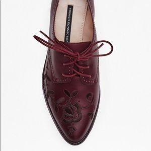 French Connection Maci Oxford - Burgundy